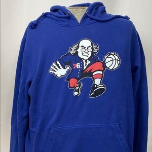 Philadelphia 76ers Hooded Sweatshirt, Sz XL